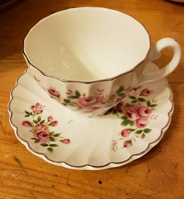 VINTAGE JOHNSON BROTHERS IRONSTONE CHINA  TEA CUP & SAUCER SET, made in England