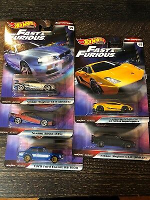 Hot Wheels 2019 Fast and Furious Mix 1 - 5 Car Lot - In Hand Ready To Ship!