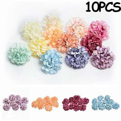 Nice 10X Artificial Silk Hydrangea Flower Head DIY Home Wedding Party DIY Decor