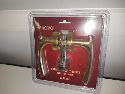 Solid brass door lock - heavy quality passage lever set