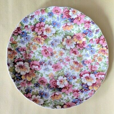 """Vintage James Kent Chintz Du Barry 6.5"""" Bread and Butter Plate - Made in England"""