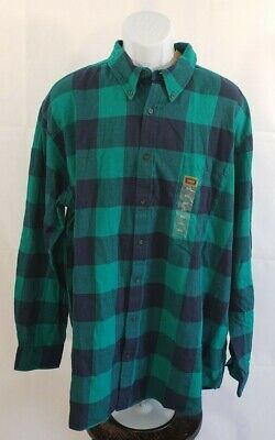 THE FOUNDRY SUPPLY Co  green flannel Mens size 2XLT NWT