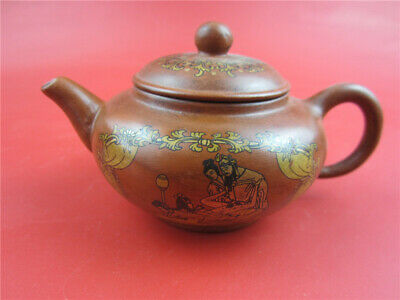 Top-grade Antique collectible handmade old exquisite pattern teapot ancient
