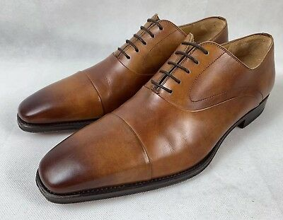 36d0fbc25d0 MAGNANNI SAFFRON CAP Toe Oxford Shoes Brown Leather Men s Size 10 ...