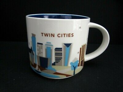 Starbucks 2017 You Are Here Collection Twin Cities Mug 14 oz EUC