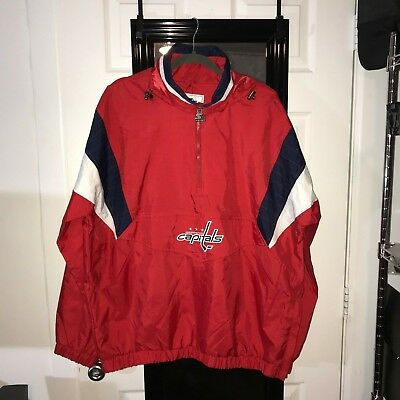 Nhl Washington Capitals Starter Pullover Jacket Men s Xl  rare Retro Style   Nwt! ae59554a8