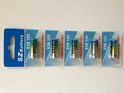 5 x 23A 21/23 A23 23A 23GA 12V Alkaline Battery for Garage Car Remote Alarm