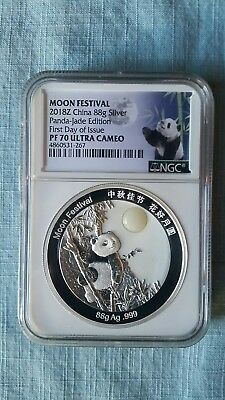 2018-Z China Moon Festival Silver Proof Panda 88g NGC PF70 First Day Issue