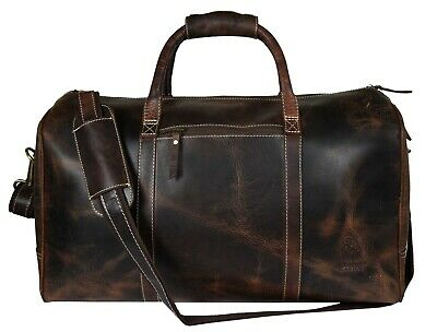 Leather Weekend Duffle Bag Travel Luggage Aircabin Carryon Handbag Sports Gym