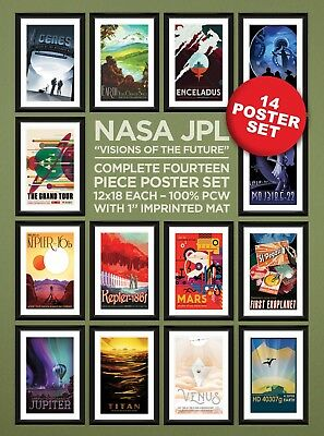 "NASA JPL ""Visions of the Future"" Complete 15 Piece Heavyweight Poster Set"