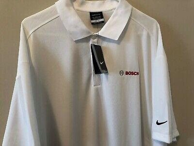 1098dcde New Nike Dri Fit Big and Tall Polo Shirt 4XL 4X XXXXL White BOSCH  Embrodiered