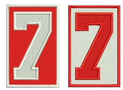 Detroit Red Wings Memorial Ted Lindsay Patch Set #7 Home & Away Jersey Versions
