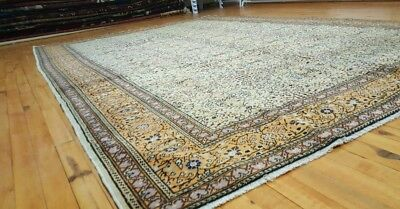 Stunning Muted Dyes Antique 1930-1940s Wool Pile Premium Qlty 7x10ft Hereke Rug