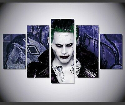 Set Of 5 Canvas Prints - Batman Joker - Jared Leto
