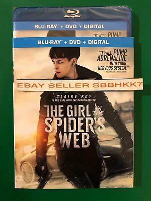 The Girl in the Spider's Web Blu-ray+ DVD + Digital HD & Slipcover New Free Ship