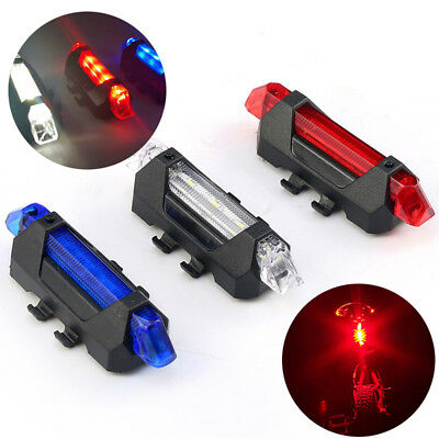 5 LED Mountain Bicycle Bike Cycling Tail Light USB Rechargeable Warning Light