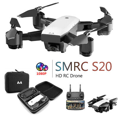 SMRC 1080P 120°Wide-Angle Wifi FPV 2.4/5G RC GPS Toy Quadcopter Foldable Drone