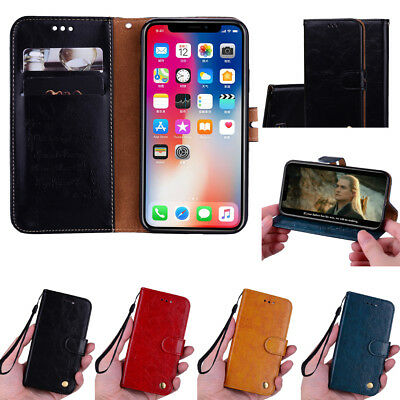 For Samsung Galaxy A6 A8 2018 Flip Wallet Leather Magnetic Card Stand Case Cover