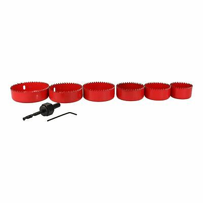 8pc Down Light Installers Kit Hole Cutter Saw Drill Arbor 50 - 86mm Circle Saws