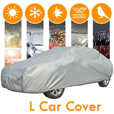 Universal Car Cover Anti Dust Rain Vehicle Scratches UV Resistant Size L Covers
