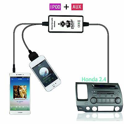 3.5mm Car CD Charger  MP3 CD Player Interface AUX Adapter FOR Honda 2.4