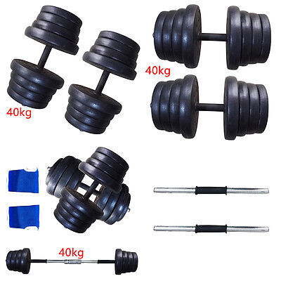 40KG Dumbbells Set Weight Gym Workout Bicep Tricep Free Weights Training UK
