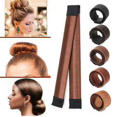 Magic French Twist Hair Bun Maker Bands Easy Snap Tool Former DIY Styling Donut