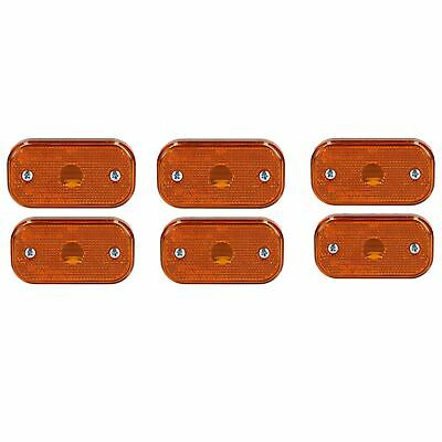 6 x Replacement Amber Orange Side Marker Light / Lamp Trailer Caravan