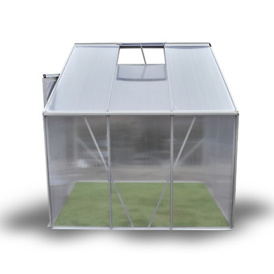 Greenhouse Aluminium Polycarbonate(PC) With Aluminium frame Base Free Delivery