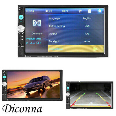Mode HD 7''Double Din Android-Autoradio für Navi Tactile Bluetooth-Kamera