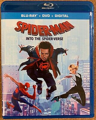 Marvel Spider Man Into The Spider Verse Blu Ray 1 Disc Only Free World Shipping