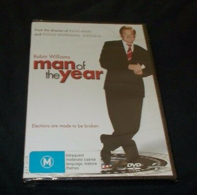 Man Of The Year Dvd Brand New & Sealed Region 4 & 2  Robin Williams