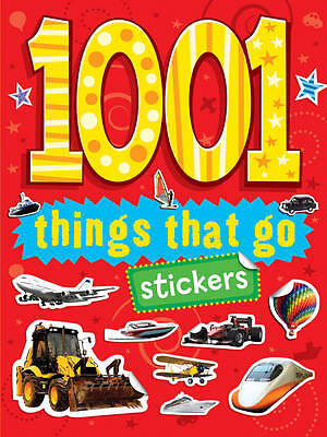 NEW 1001 THINGS THAT GO stickers book JCB Planes, cars, tractors bikes lorries b