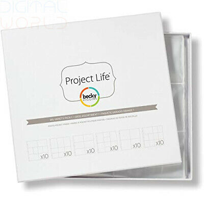 Becky Higgins Project Life Photo Pocket Pages 10x6 Variety Pack 33.2x35.4x0.6 cm