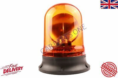 Rotating Flashing Amber Hazard Beacon 24 VOLT Screw MOUNT BRAND NEW
