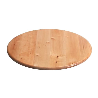 Lazy Susan 39cm Solid Birch Wood Cake Florist Rotating Turntable Serving Plate