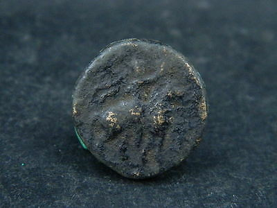 Ancient Bronze Coin Bactrian 100 BC  #S6153