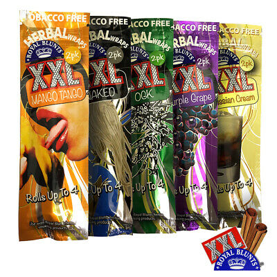 Royal Blunts XXL Wraps - 2pack (Rolls up to 4) - 5 flavours - Tobacco Free