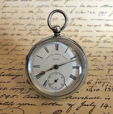 1896 Chester Solid Silver Fusee Pocket Watch 'Hutchinson' Maker, Top Quality