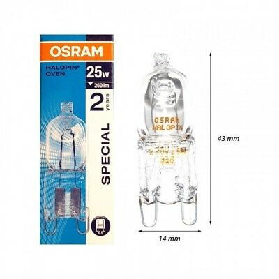 OSRAM G9 25W 66725 HALOPIN OVEN ampoule halogene special four 300° lampe