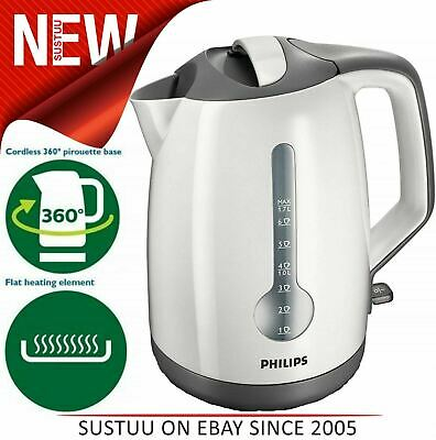 Philips Energy Efficient Electric Kettle 1.7L│One Cup Indicator│Hinged Lid│3000W