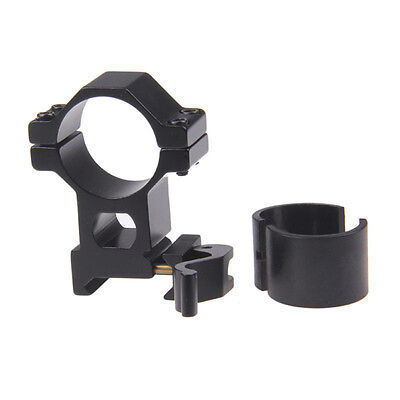 """1"""" 25.4/30mm High Ring 20mm Weaver Picatinny Rail QD Quick Release Scope MountTO"""