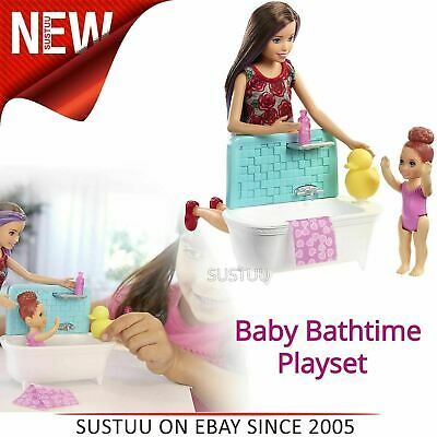 Barbie Skipper Babysitters Baby Bathtime Playset│Kid's Inspiration Doll Toy│3y+