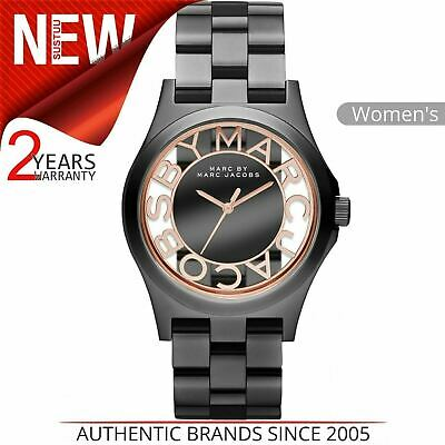 Marc Jacobs Henry Skeleton Ladies Watch MBM3254¦Rose Gold Hands Markers Dial