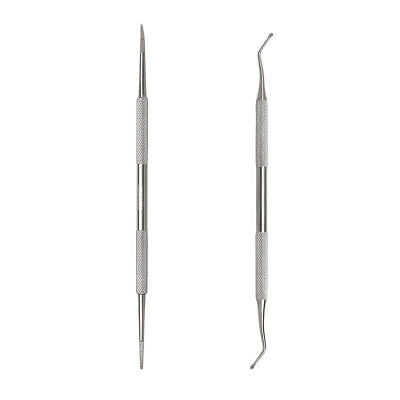 2pcs Nail Cleaner Stainless Steel Small Portable Durable Cuticle Remover for Men