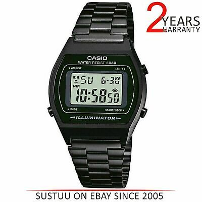 Casio Unisex Adults Digital Watch│Stainless Steel Band│Alarm│LED Indicator│Black