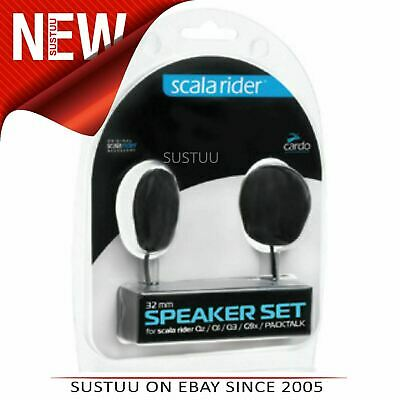 Cardo Scala Rider 32mm Speaker Set│For Qz Q1 Q3 G9x Packtalk Intercom Audio Kit