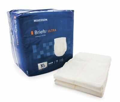McKesson HEAVY Absorbency Adult Diaper Brief X-LARGE Contoured BRULXL 15/ Bag