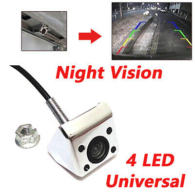 Universal RV Car Rear View Camera 4 LED Night Vision IP68 HD CCD Wire 170 Degree