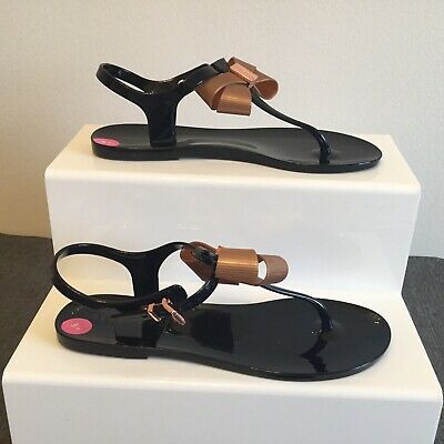 09b48f6c25ae49 Ted Baker sandals UK Size 5 Camaril Womens Black and rose gold Flip Flop